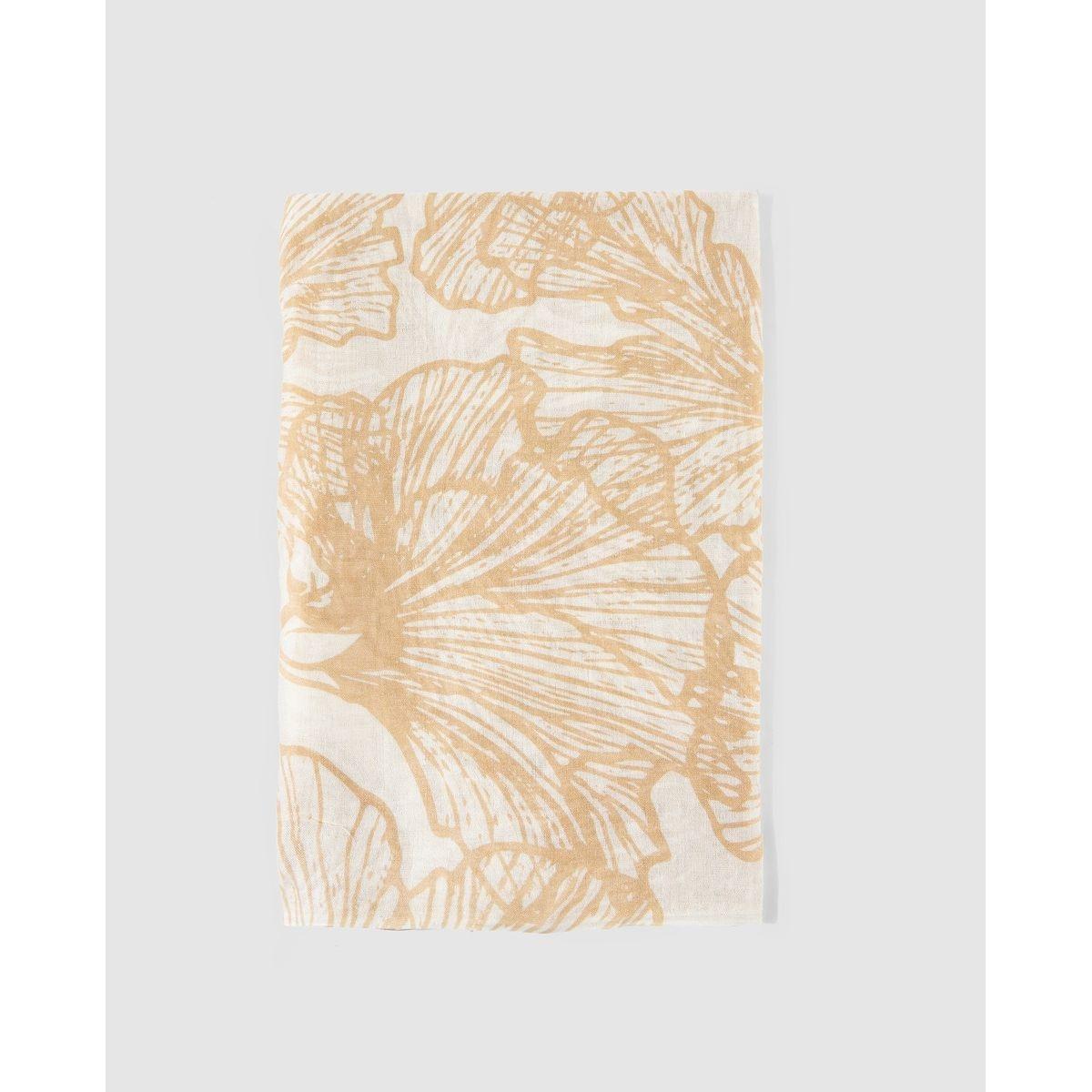 Foulard beige et imprimé à motif abstrait