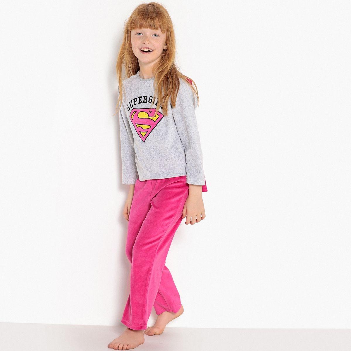 Pyjama avec cape en velours 4-10 ans