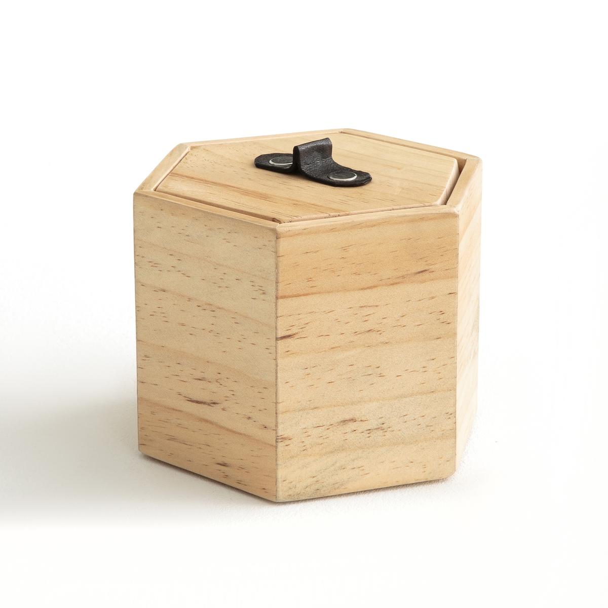 Коробка из дерева сосны и кожи GAFIA