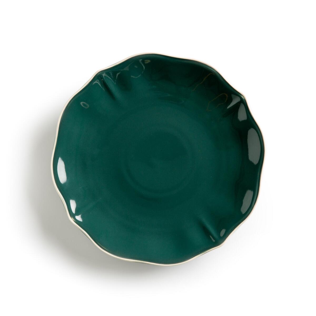 Фото - Набор LaRedoute Из 4 тарелок Auguste единый размер зеленый покрывало la redoute кроватное из газовой ткани биохлопок cuddly единый размер розовый