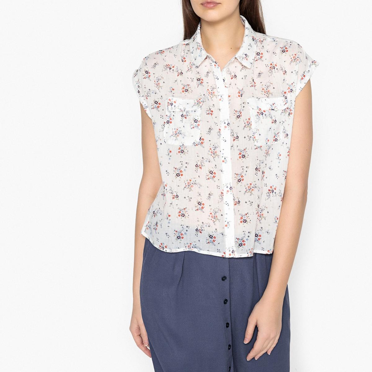 Блузка с рисунком и короткими рукавами LILO блузка кружевная с короткими рукавами