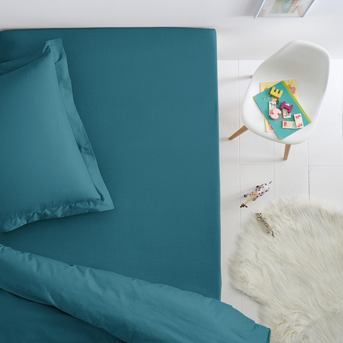 Простыня натяжная из хлопка для детской кровати
