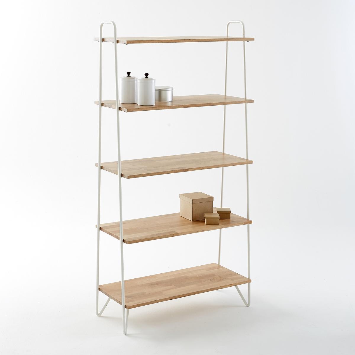 Этажерка из металла и дуба, Adza этажерка модульная с 2 ящиками из массива дуба edgar