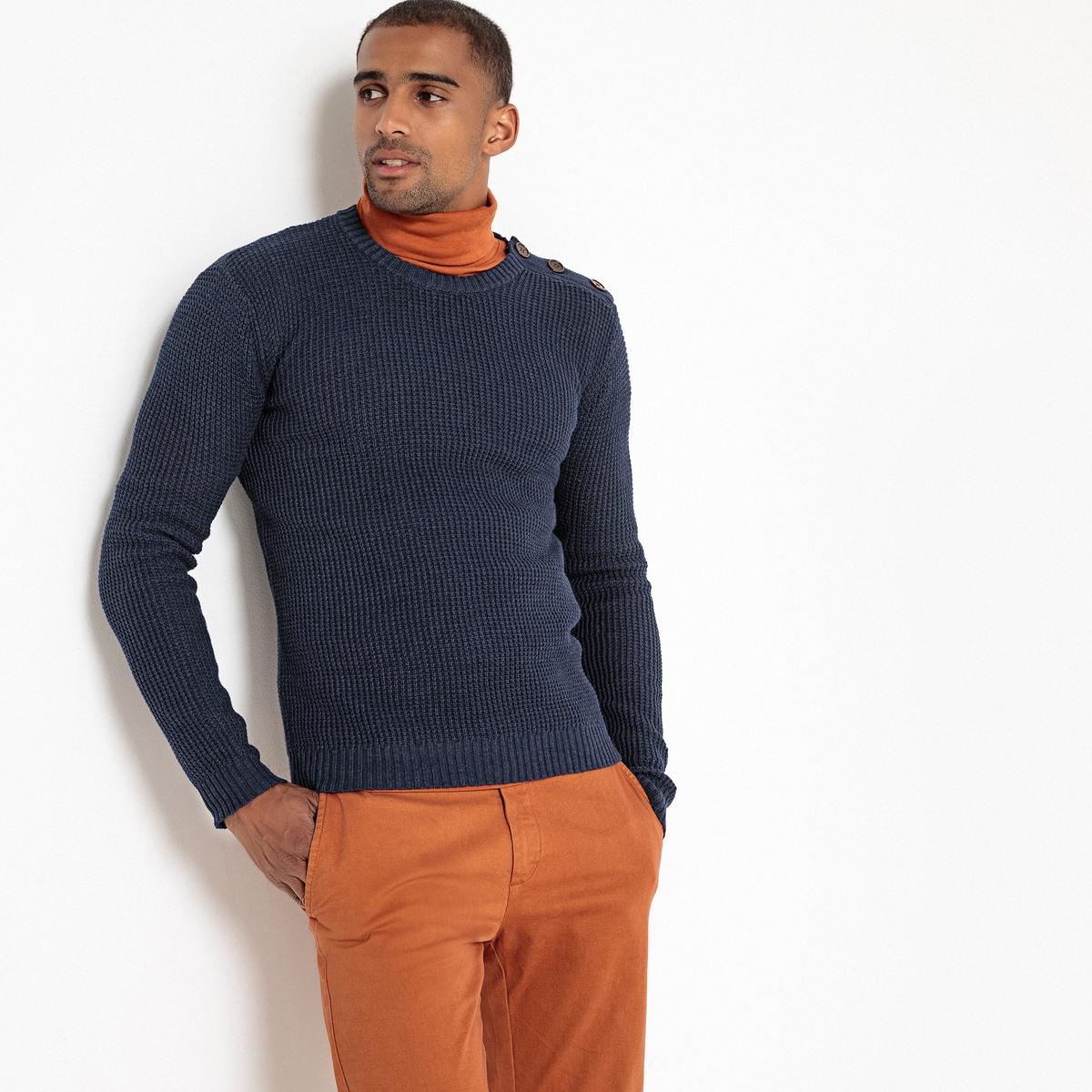 Пуловер La Redoute С круглым вырезом из плотного трикотажа 3XL синий пуловер la redoute с круглым вырезом из плотного трикотажа 3xl бежевый