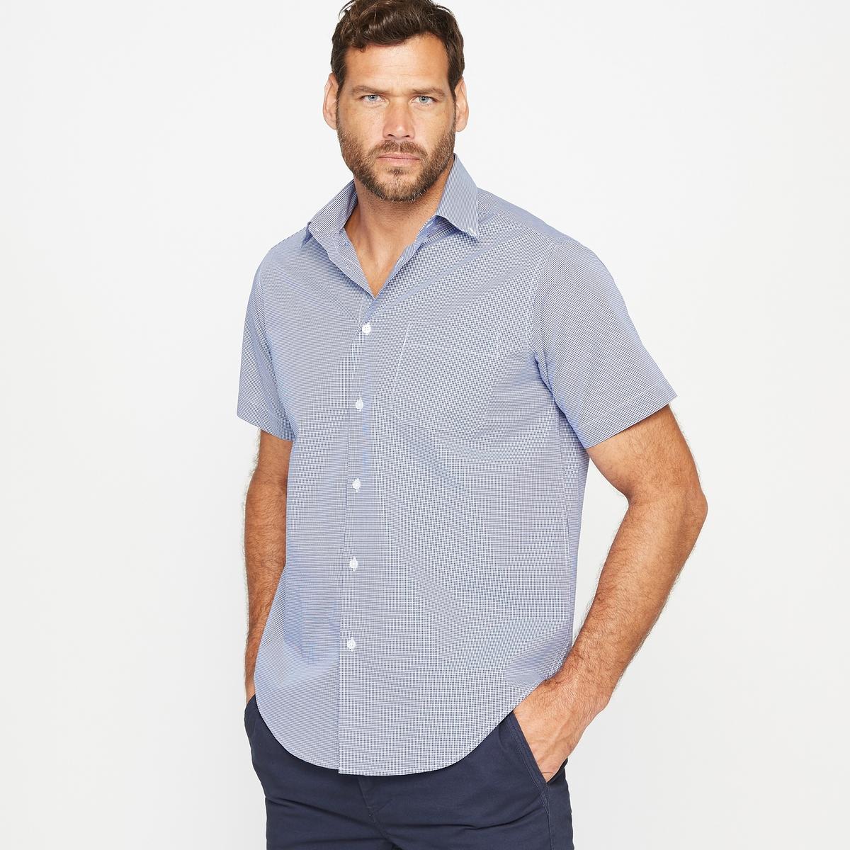 Рубашка (до 187 см)Рубашка из поплина, рост 1 и 2 (до 187 см).Удобный покрой.Воротник с уголками на пуговицах.Короткие рукава.1 нагрудный карман.2 складки на спине. Слегка закругленный низ.Также имеется модель этой мужской рубашки для роста 3 (при росте 187 см).Материал : поплин 100% хлопок.Рост 1 и 2  : Длина передней части от 80 до 87 см, в зависимости от размера.Марка : CASTALUNA FOR MEN.Уход : Машинная стирка при 30 °C.<br><br>Цвет: в полоску белый/синий,наб. рисунок темно-синий,наб.рисунок/антрацит<br>Размер: 49/50.55/56.53/54