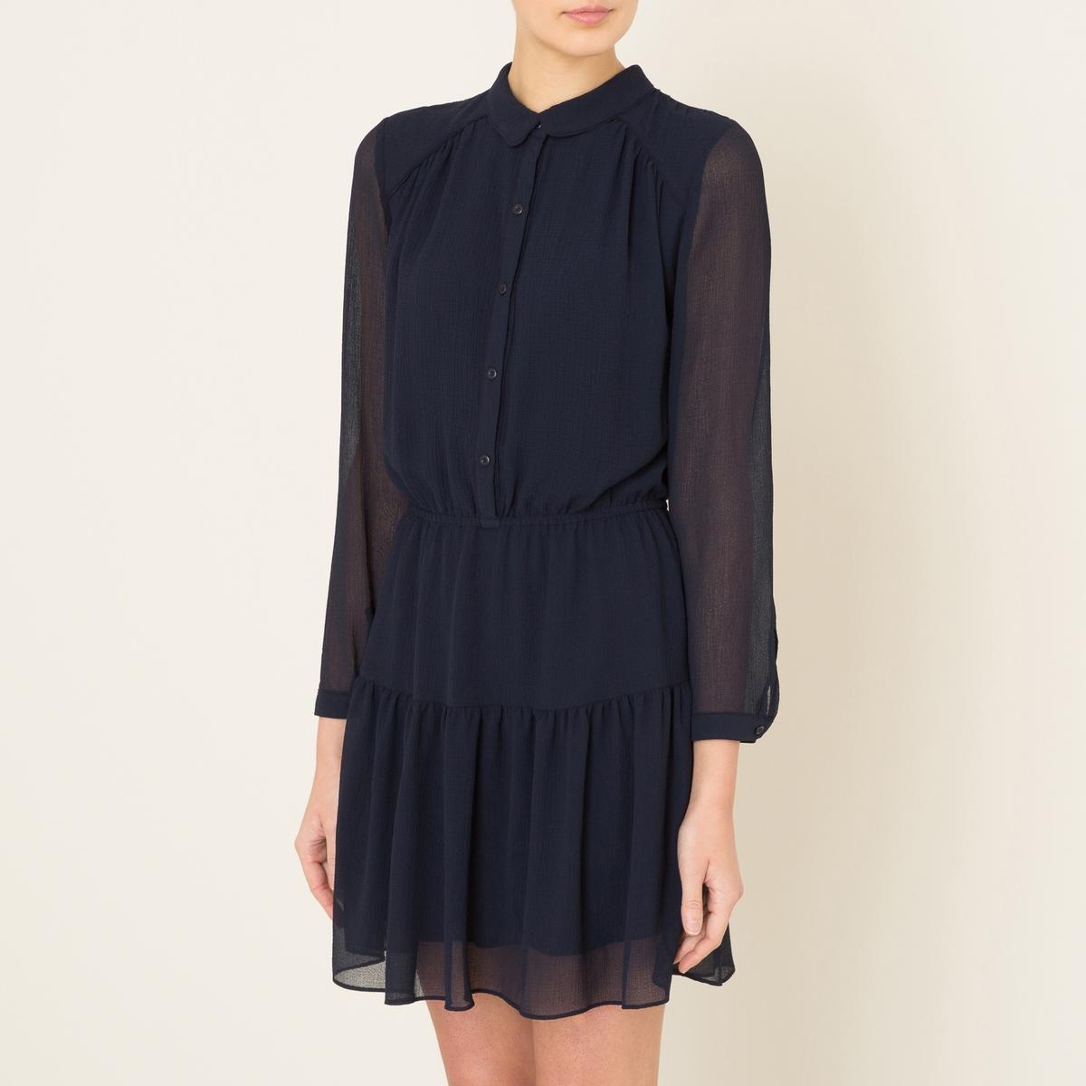 Платье SOFIAСостав и описание    Материал : 100% вискоза   Марка : BA&amp;SH<br><br>Цвет: темно-синий