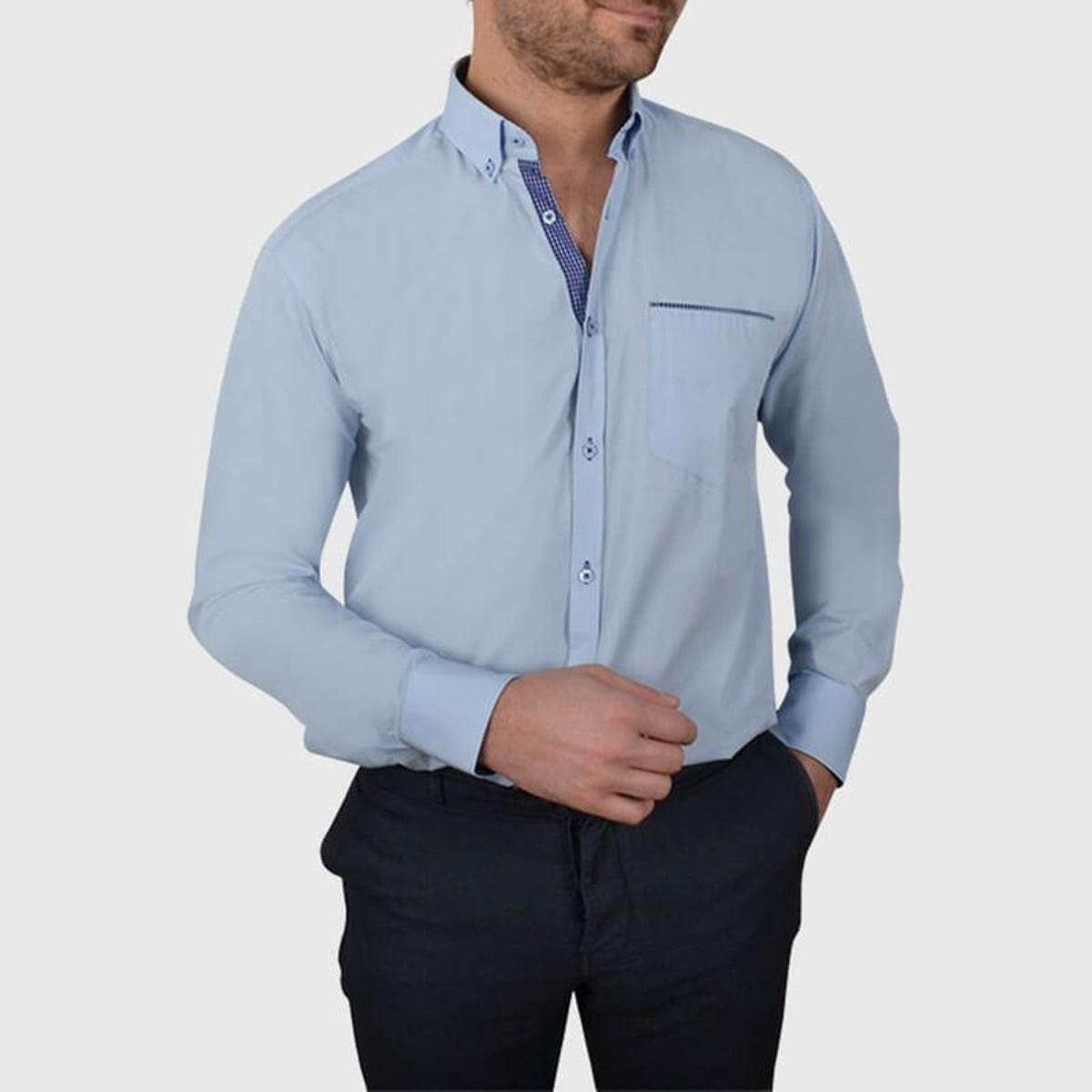 Chemise non cintrée col boutonné