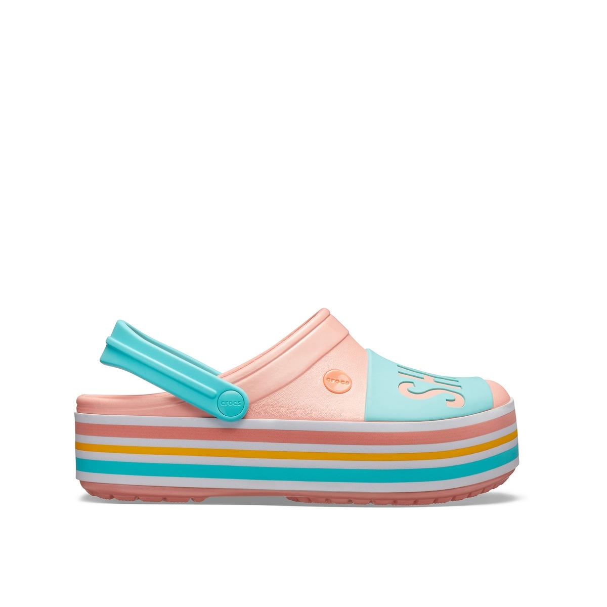 цена Туфли La Redoute Без задника PLATFORM BOLD COLOR CLOG 36/37 синий онлайн в 2017 году