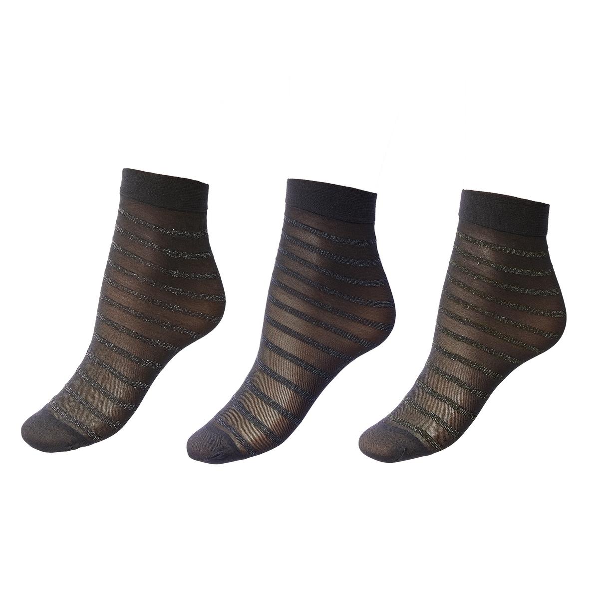 Комплект из 3 пар блестящих носков jd коллекция светло телесный 12 пар носков 15d две кости размер