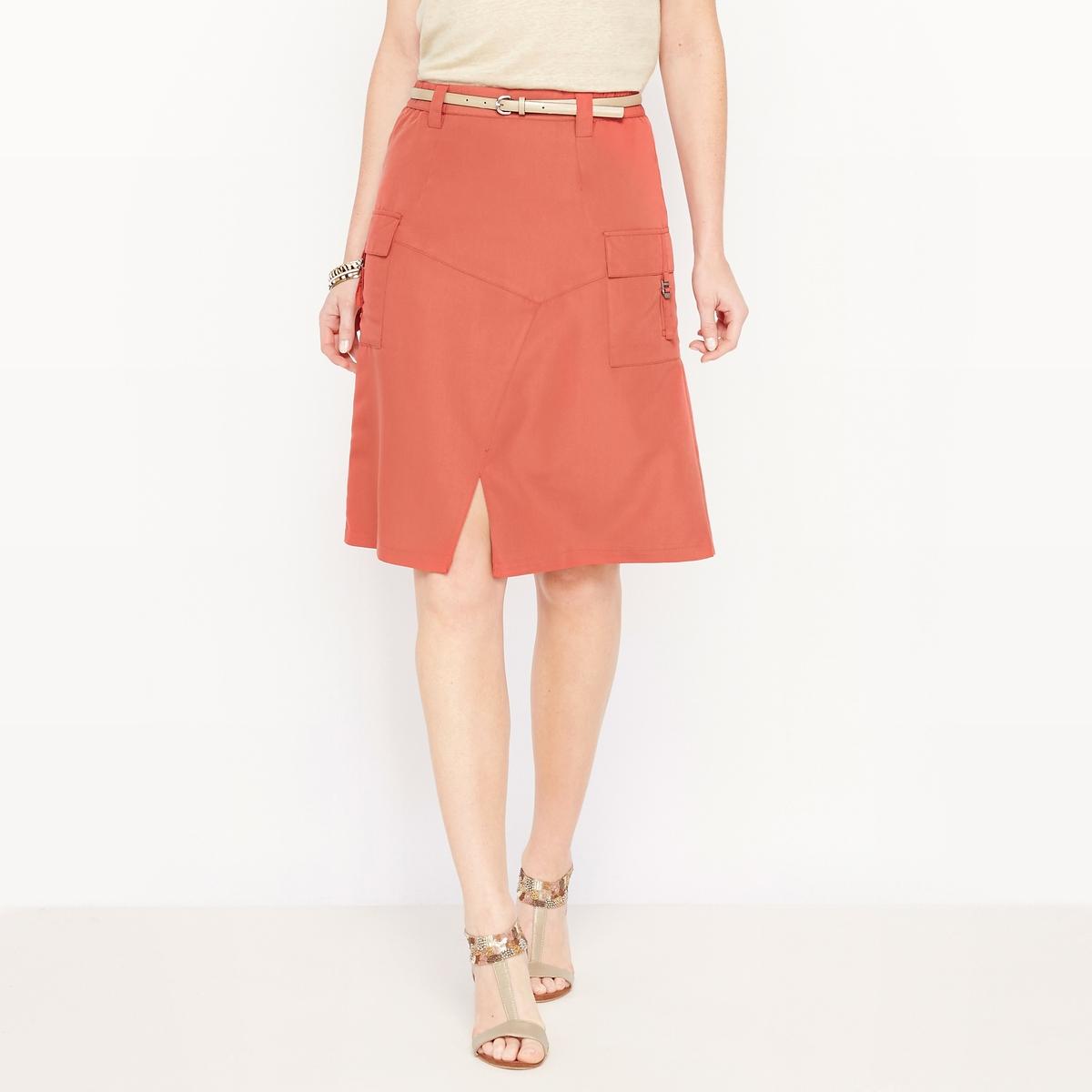 Юбка из бархатистой микрофибрыКомфортная и элегантная юбка из мягкой бархатистой микрофибры. Нежный материал и безупречный фасон. Элегантность, комфорт и лёгкость в уходе делают эту юбку такой привлекательной.<br><br>Цвет: кирпичный,черный<br>Размер: 38 (FR) - 44 (RUS).40 (FR) - 46 (RUS)