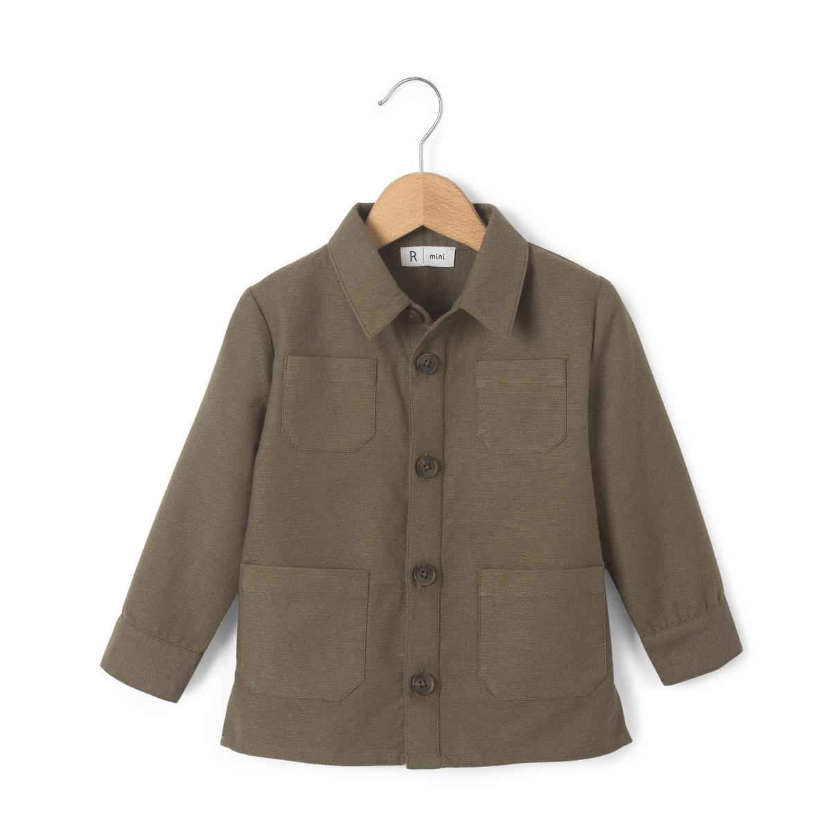 Рубашка 1 мес - 3 летРубашка в стиле жакета сафари. 4 накладных кармана спереди. Застежка на пуговицы. Рубашечный воротник. Отрезные детали сзади.Состав и описаниеМатериал:          100% хлопокМарка:          R miniУходМашинная стирка при 30 °С с вещами схожих цветовСтирать и гладить с изнаночной стороныМашинная сушка запрещенаГладить на низкой температуре<br><br>Цвет: хаки<br>Размер: 9 мес. - 71 см.6 мес. - 67 см.3 мес. - 60 см.1 мес. - 54 см.1 год - 74 см.3 года - 94 см