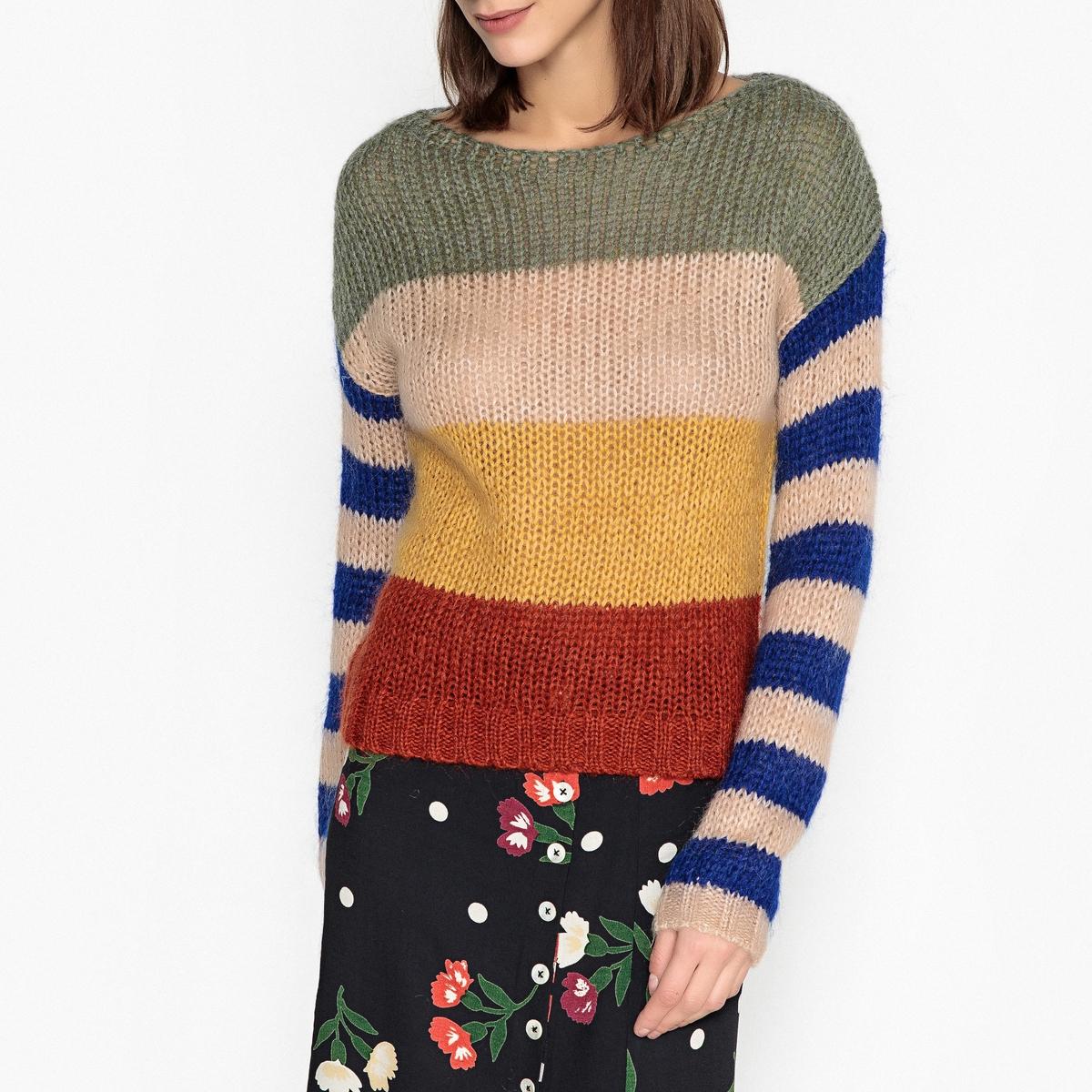 Пуловер с круглым вырезом из трикотажа LOCOU