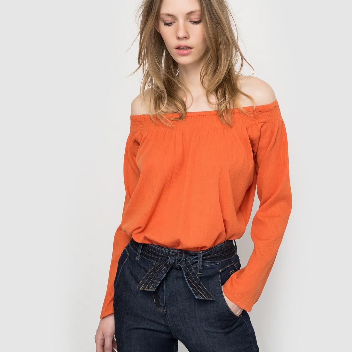 Блузка однотонная из 100% хлопка