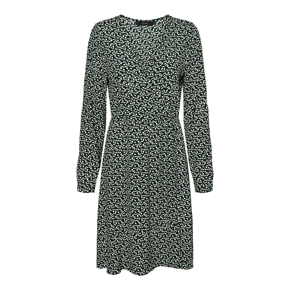 цена Платье La Redoute Расклешенное с V-образным вырезом длиной до колен XL зеленый онлайн в 2017 году