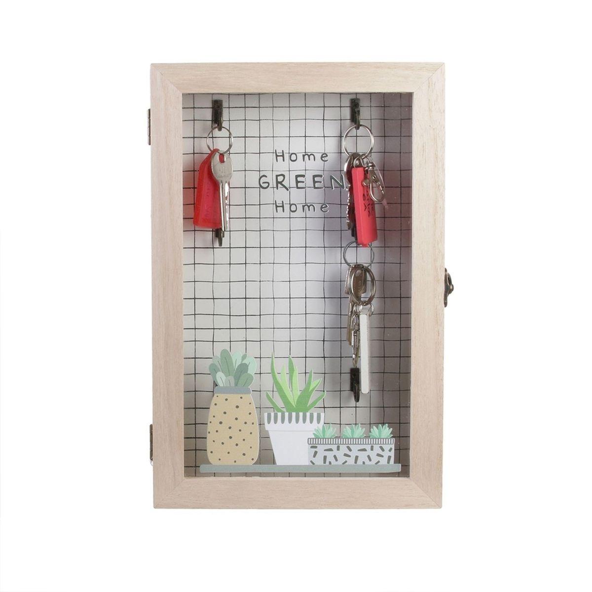 Boîte à clés en bois Little Market - L. 19 x H. 30 cm