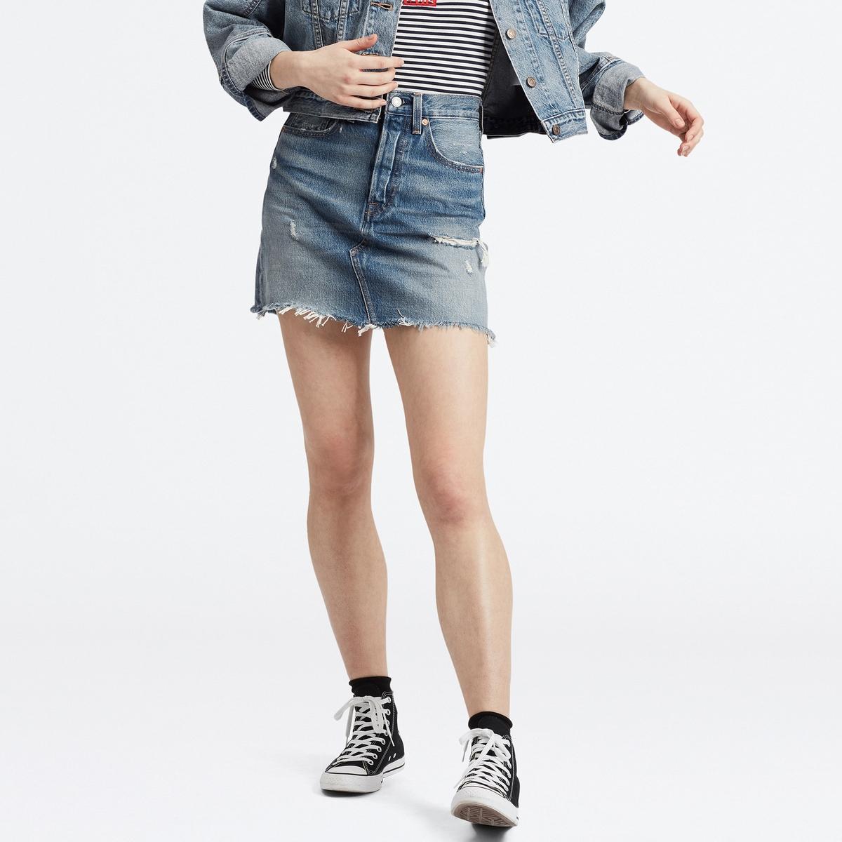 Falda corta de denim