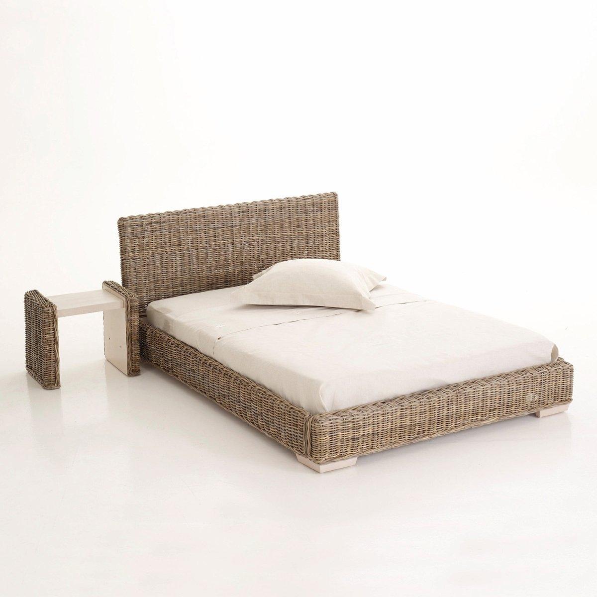 Кровать LaRedoute Из ротанга кубу 2 размера Derry 160 x 200 см серый