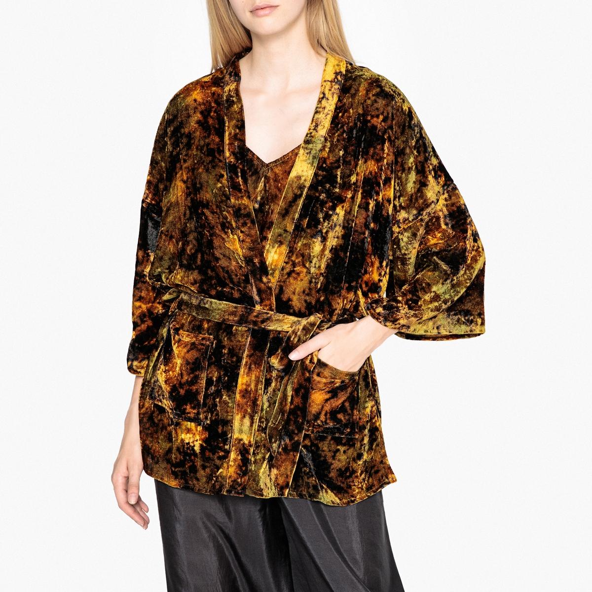 Кимоно прямого покроя с принтом SHANA жакет кимоно