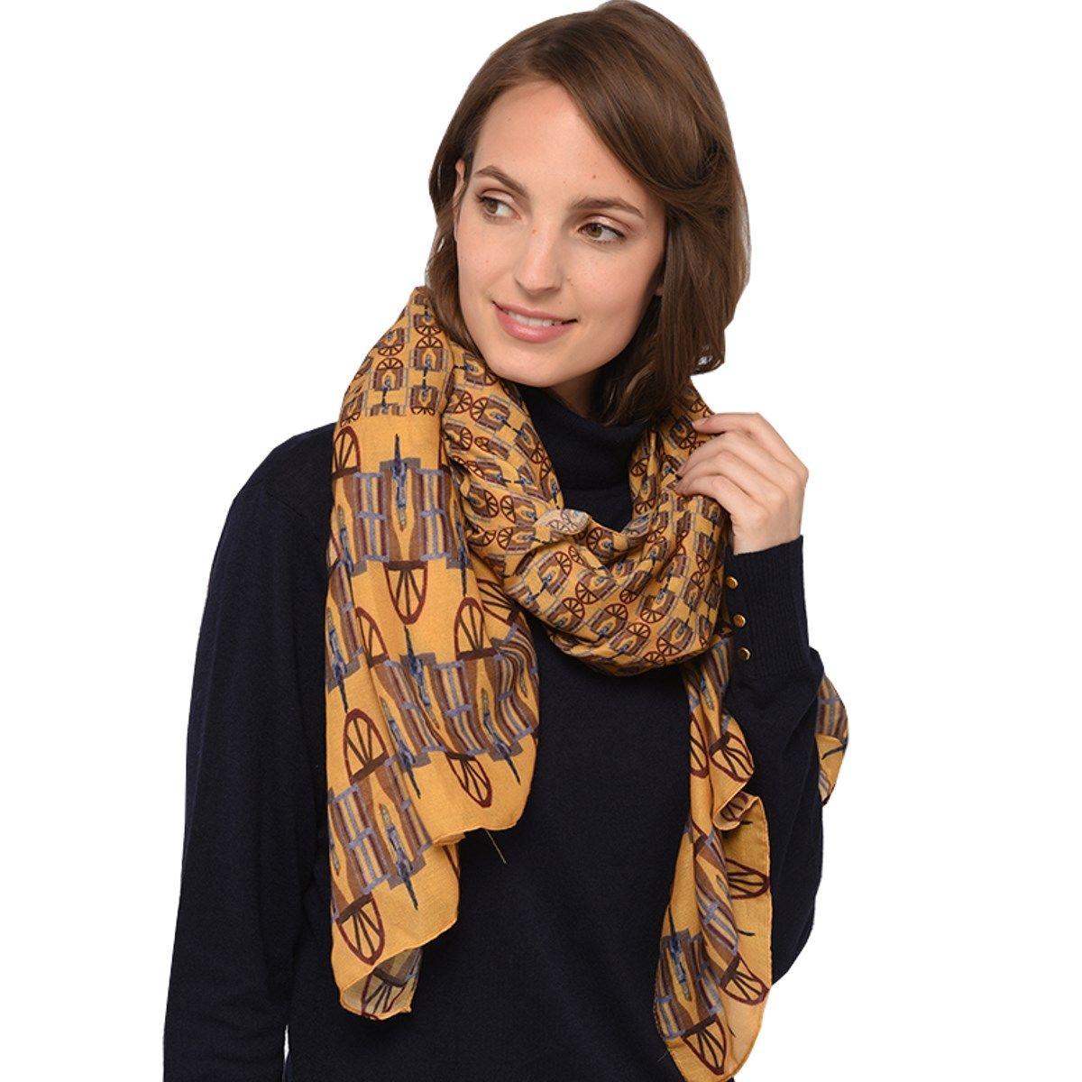 Grand foulard imprimé FENÊTRE