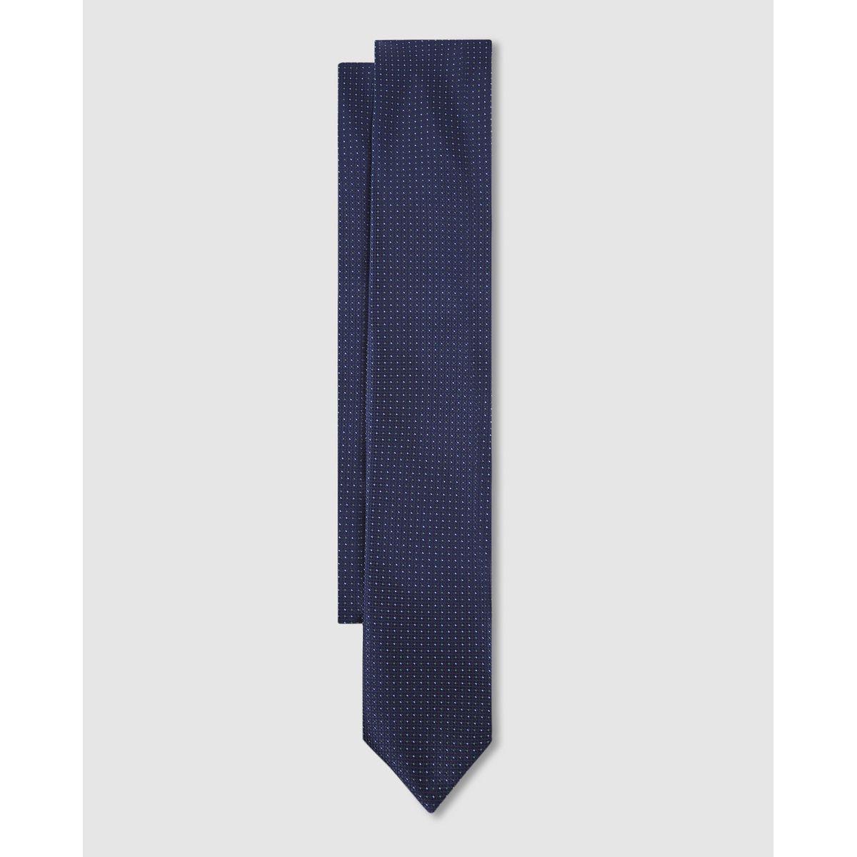 Cravate classique en soie microimprimé à motif