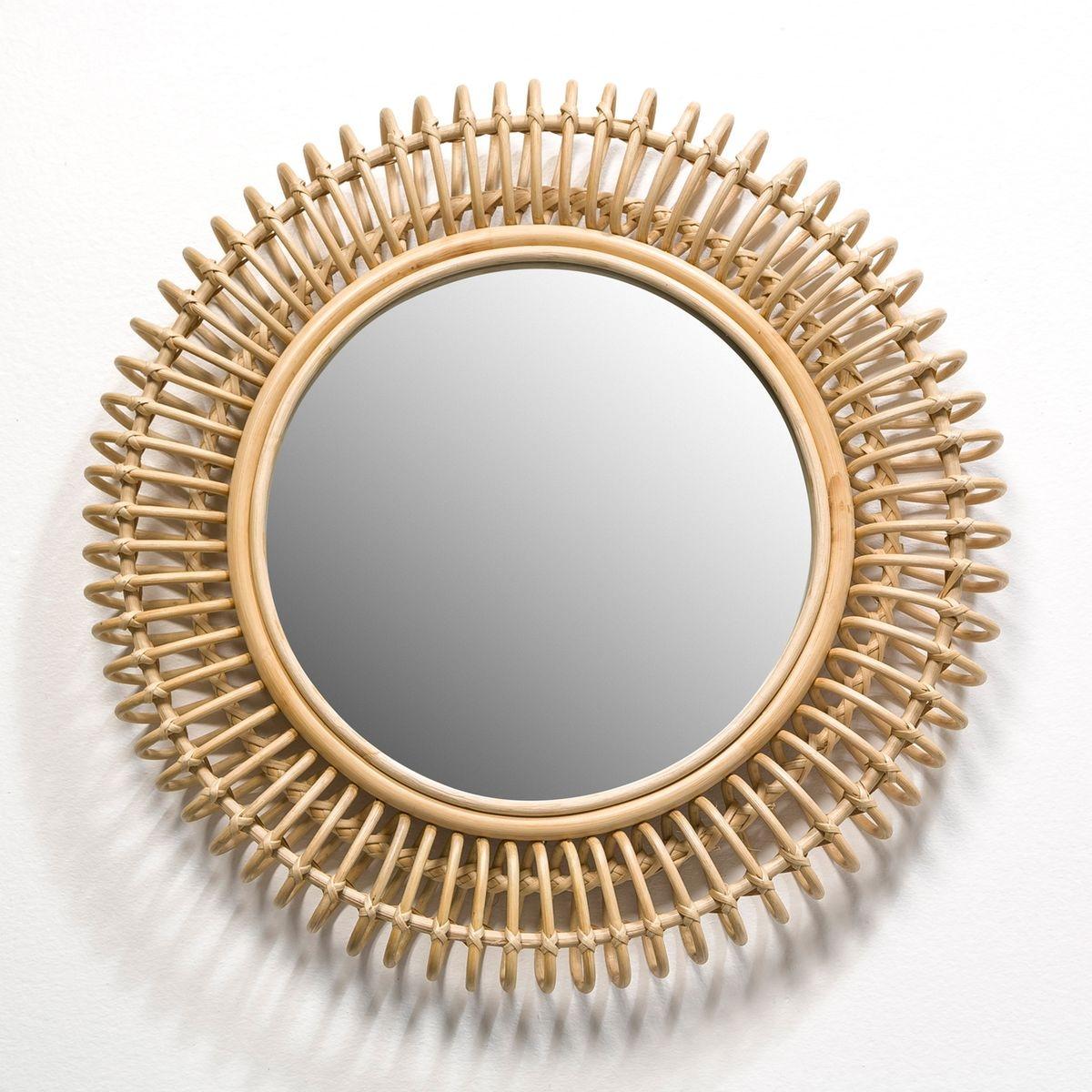 Miroir rotin Tarsile, rond Ø60 cm