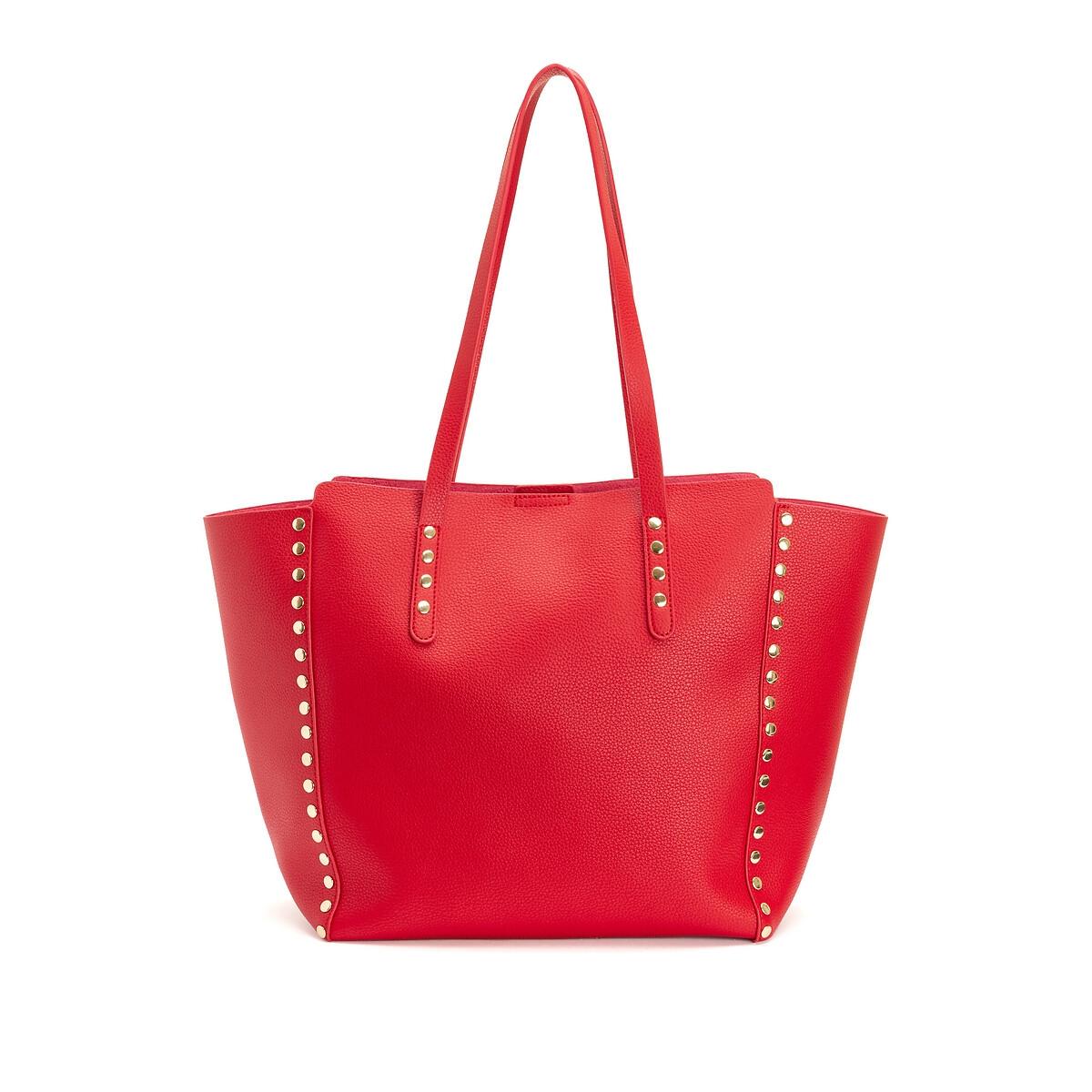 Сумка-шоппер LaRedoute La Redoute единый размер красный кресла la redoute wapong единый размер белый