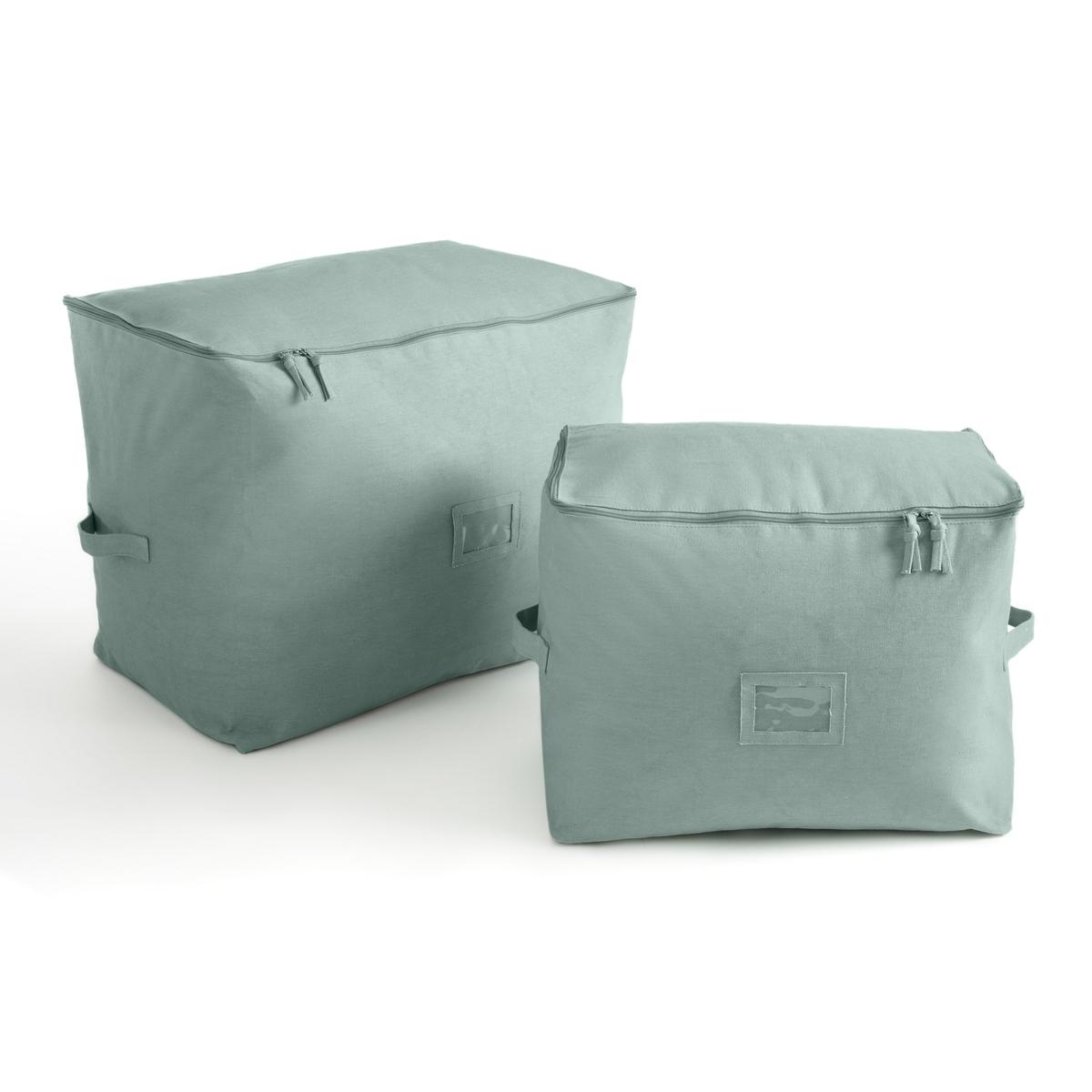 Фото - Комплект из 2 чехлов MIVILLE La Redoute La Redoute единый размер зеленый коробка рыжий кот 33х20х13см 8 5л д хранения обуви пластик с крышкой