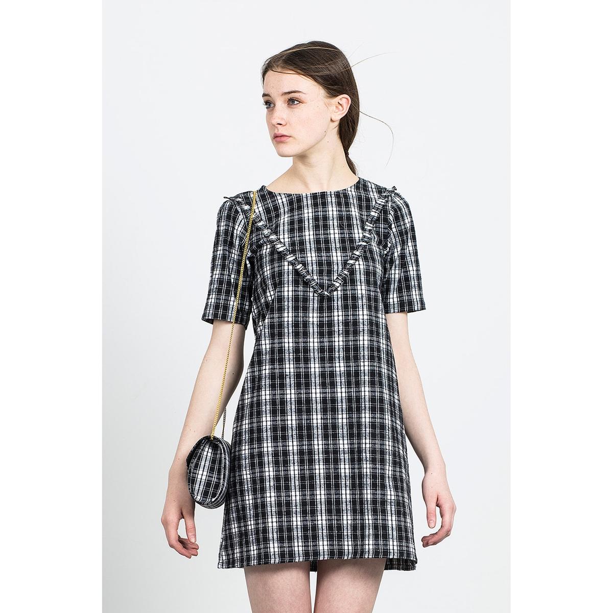 Платье короткое BINGO DRESSСостав и описаниеМатериал: 100% хлопок.Марка: COMPANIA FANTASTICA.УходСтирка при 30°С с вещами подобных цветов.Стирать и гладить с изнанки.<br><br>Цвет: черный/ белый<br>Размер: L
