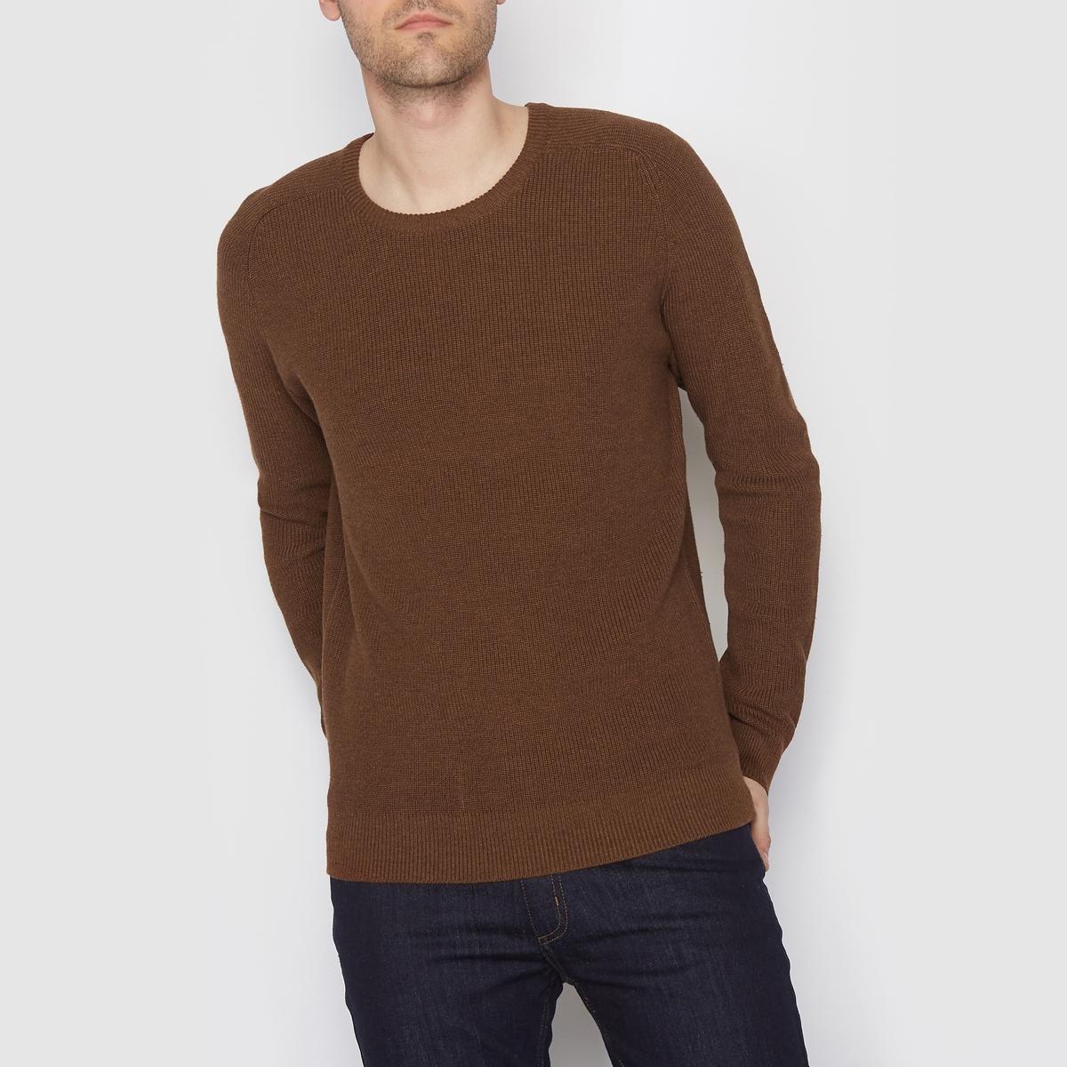 Пуловер из трикотажа мулинеСостав и описание:Материал: 100% хлопка.Длина: 67 см.Марка: R edition<br><br>Цвет: темно-бежевый меланж,темно-синий<br>Размер: L.XXL