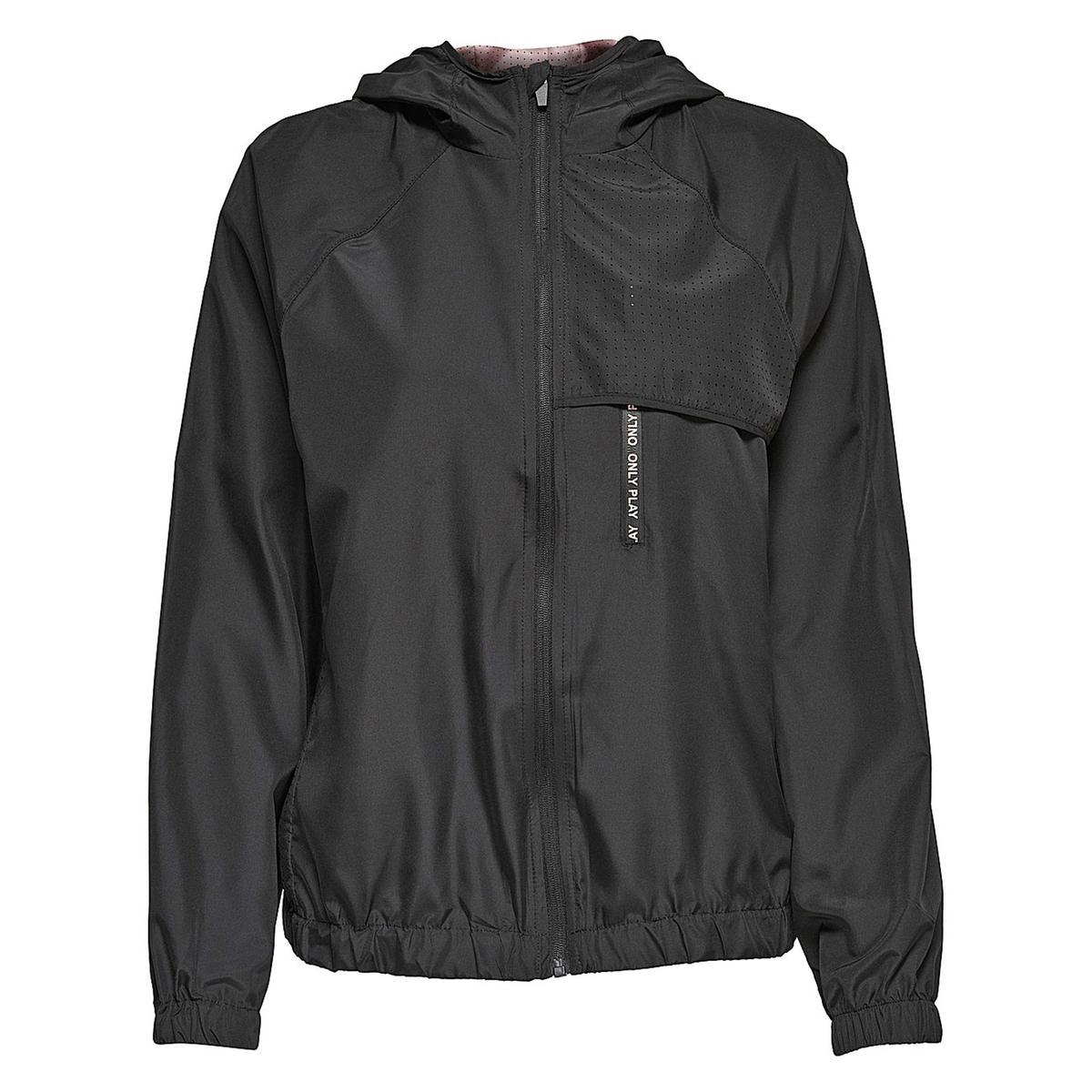Куртка-ветровкаОписание:Детали •  Длина  : укороченная   •  Капюшон  •  Застежка на молниюСостав и уход •  100% полиэстер •  Следуйте рекомендациям по уходу, указанным на этикетке изделия<br><br>Цвет: розовый,черный