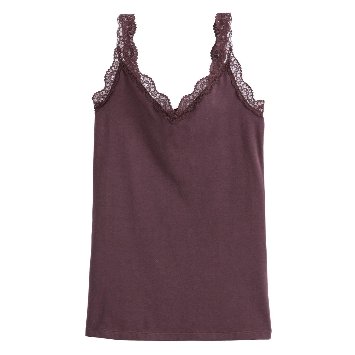 Camiseta sin mangas con tirantes de encaje