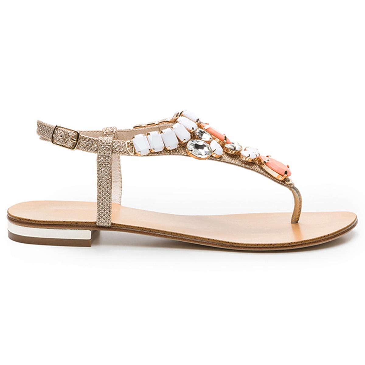 Босоножки на плоском каблуке, Hania Glit