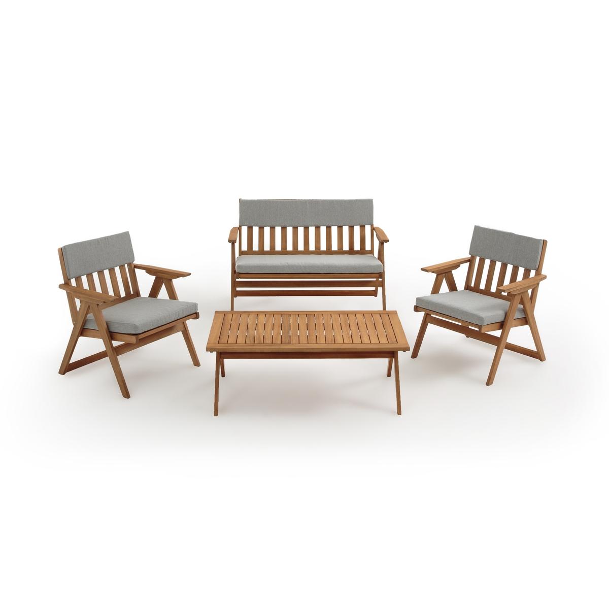 Мебель LaRedoute Для сада из 4 предметов Folda единый размер бежевый