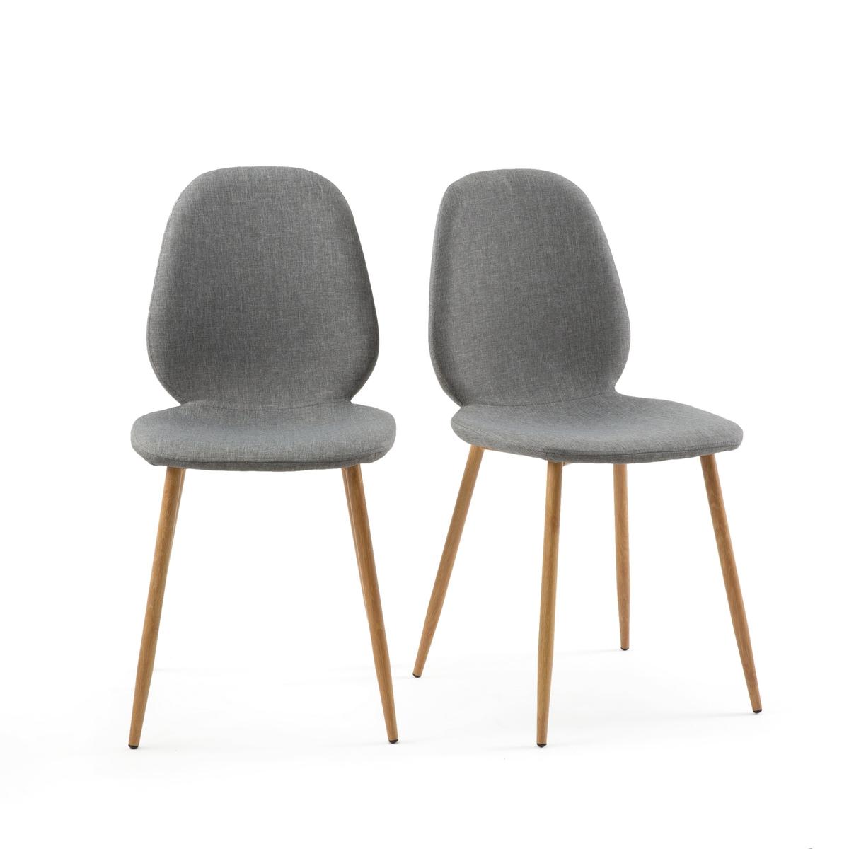 Комплект из 2 стульев Nordie La Redoute La Redoute единый размер серый комплект из пиал из la redoute фаянса ajila единый размер серый