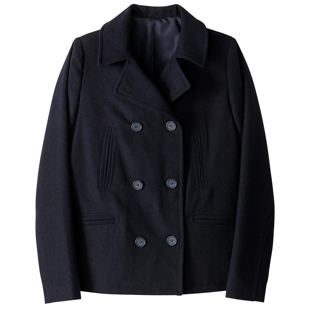 Полупальто классическое 40% шерстиНе выходящий из моды предмет зимнего гардероба, короткое и элегантное пальто-бушлат . Симпатичная дублированная застежка на пуговицы и добротный воротник .Детали •  Длина : укороченная •  Шалевый воротник • Застежка на пуговицыСостав и уход •  40% шерсти, 30% акрила, 5% других волокон, 25% полиэстера • Не стирать  •  Любые растворитель / не отбеливать   •  Не использовать барабанную сушку   •  Низкая температура глажки •  Длина : 67 см.<br><br>Цвет: синий морской,шоколадный<br>Размер: 34 (FR) - 40 (RUS).48 (FR) - 54 (RUS).46 (FR) - 52 (RUS).40 (FR) - 46 (RUS).38 (FR) - 44 (RUS).36 (FR) - 42 (RUS).52 (FR) - 58 (RUS).44 (FR) - 50 (RUS).36 (FR) - 42 (RUS).44 (FR) - 50 (RUS).42 (FR) - 48 (RUS)