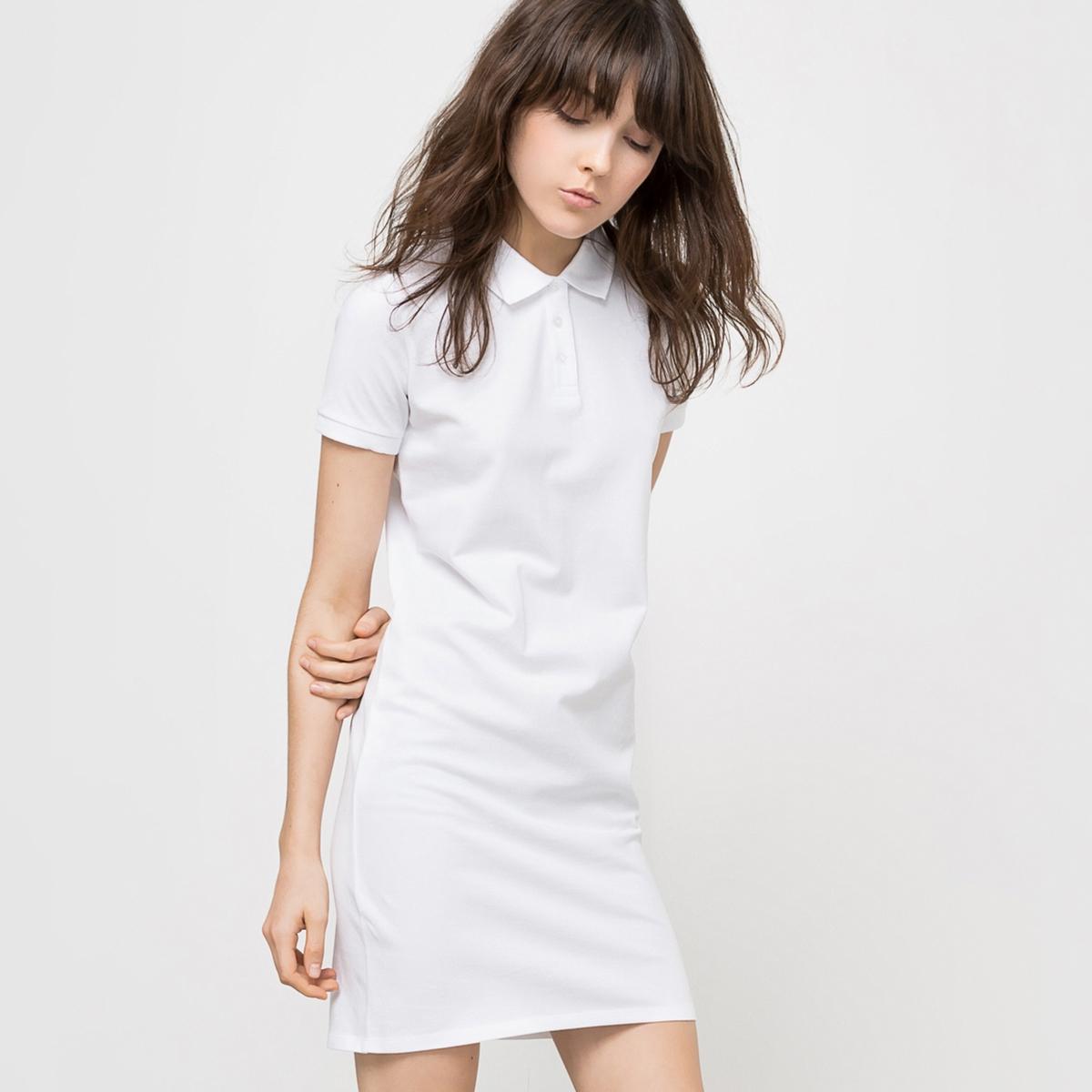 Платье с воротником полоСостав и описание Материал : 100% хлопка Длина : 91 см Марка : R essentiels<br><br>Цвет: белый,черный