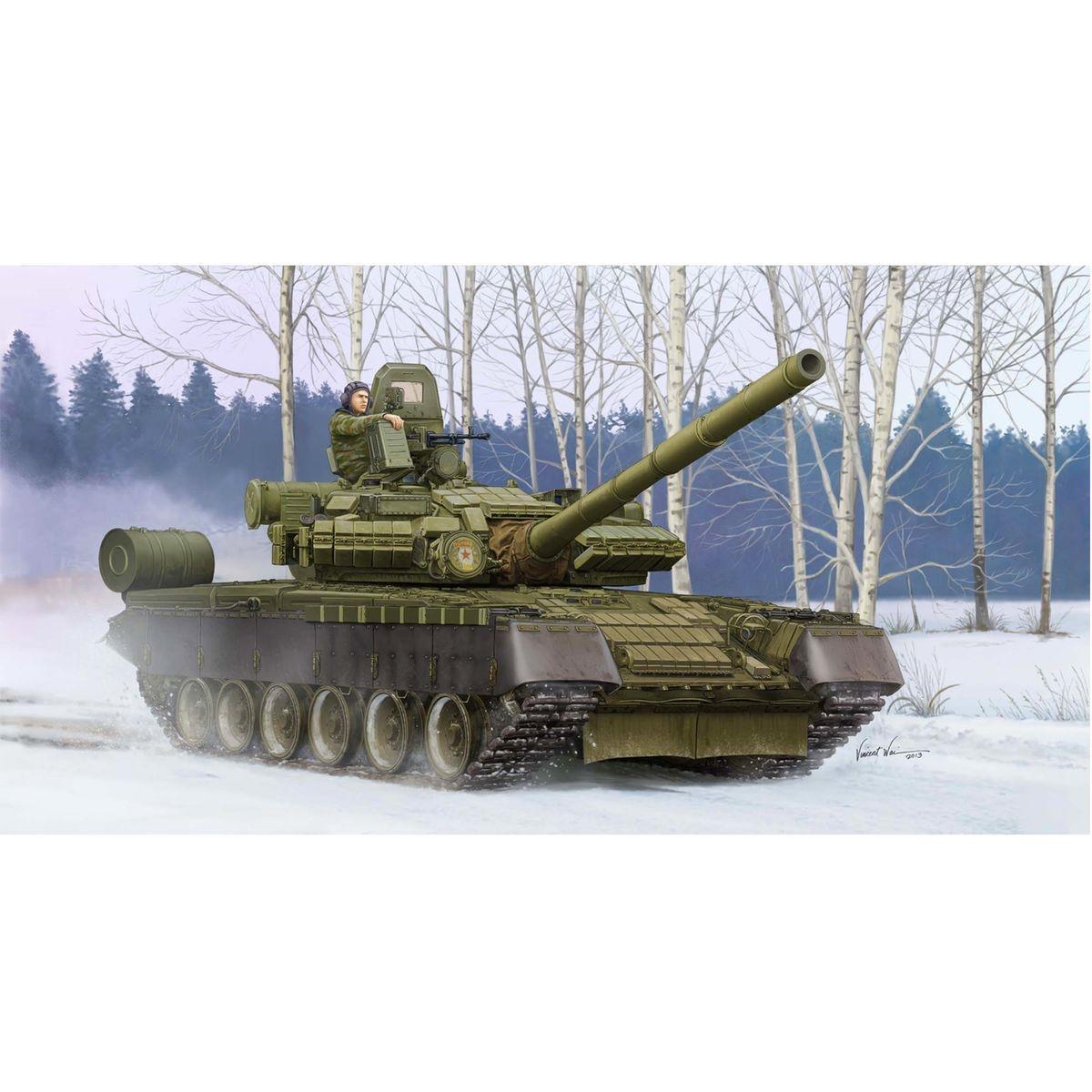 Maquette char russe T-80BV modèle 1990