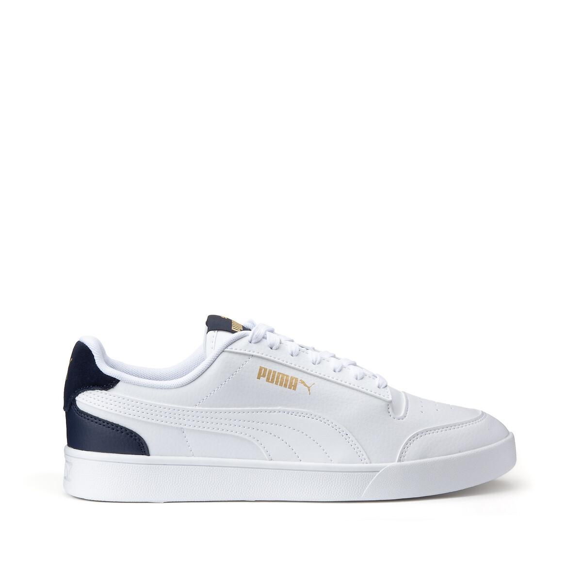 Puma Shuffle sneakers wit/donkerblauw/goud online kopen