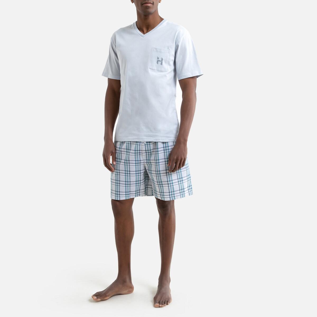 Фото - Пижама LaRedoute С шортами L белый пижама laredoute с шортами в полоску m синий