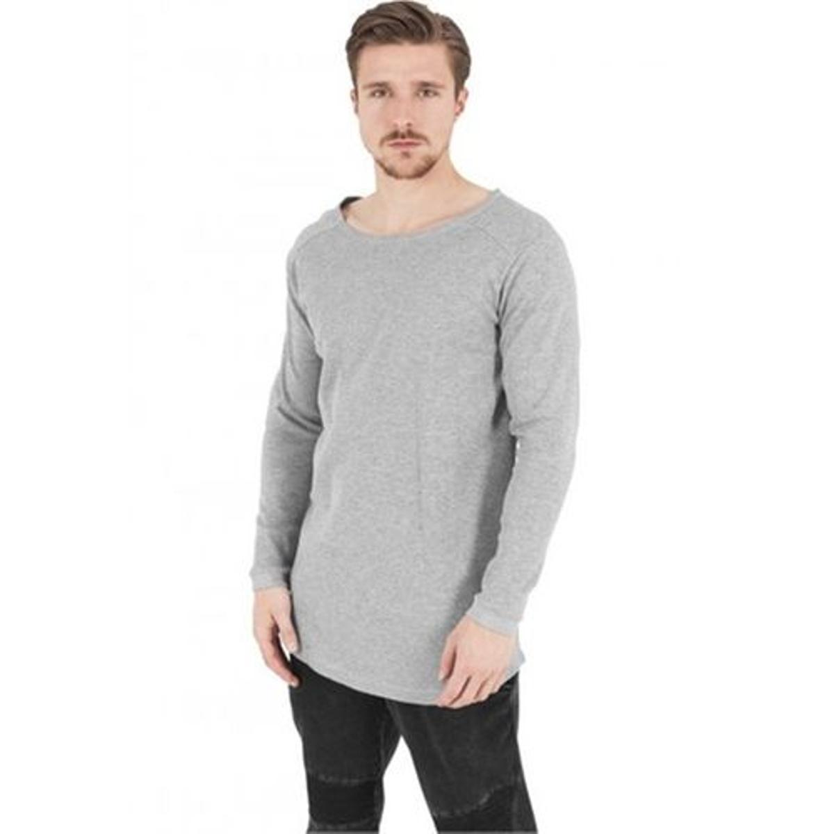 T-shirt long gaufré à manches longues
