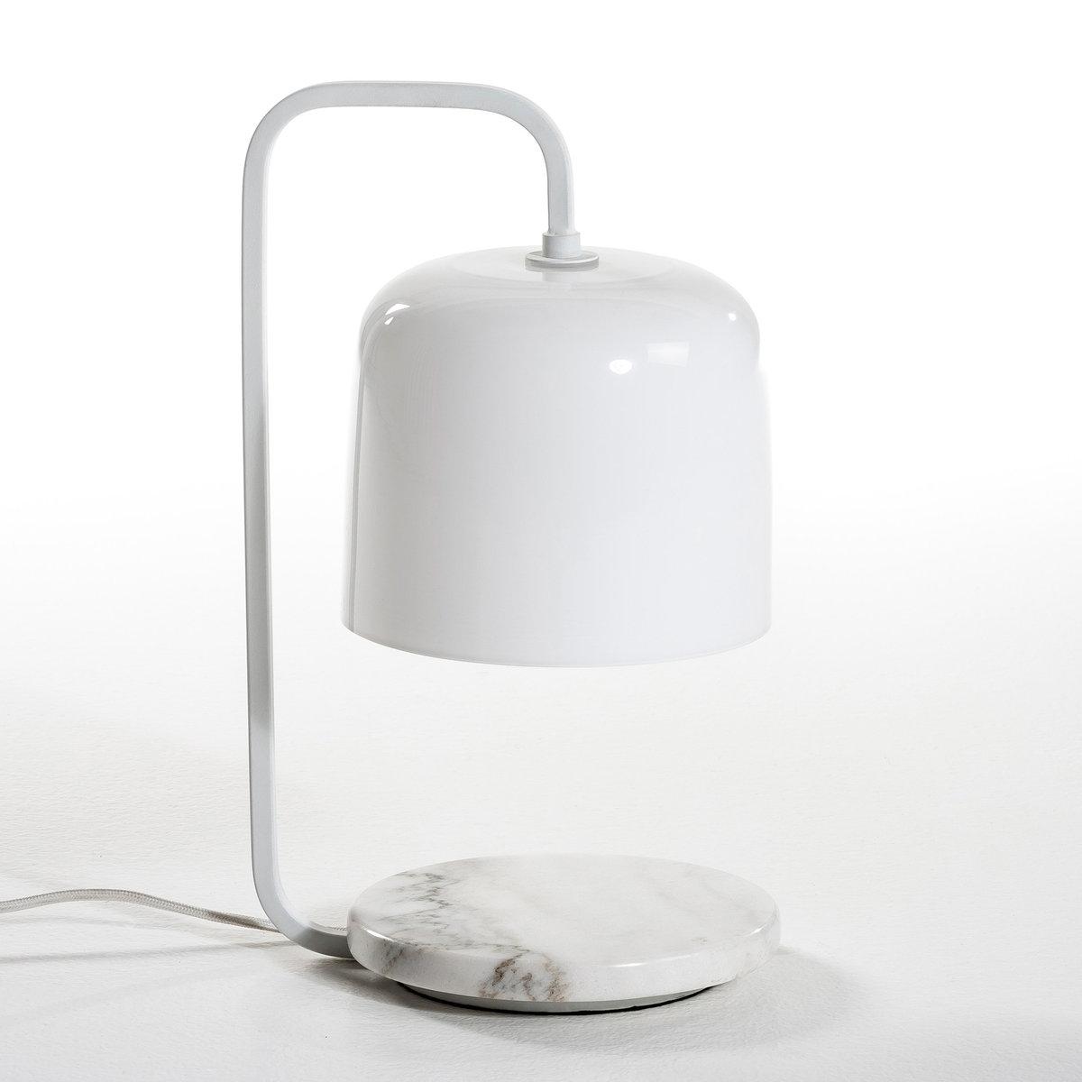 Лампа настольная Zella, дизайн Э. ГаллиныЛампа Zella, Творение Эммануэль Галины, эксклюзивно для AM.PM   .Дизайнер - Эммануэль Галлина. Элегантность, очевидность и простота - это  его ключевые понятия. Для него важны детали, чтобы запечатлеть каждое  мгновение в линиях, форме и функциональности . Описание лампы Zella :  - Основание из матового мрамора.- Металлическая стойка.- Абажур из белого стекла.- Патрон E14, лампочка 40Ват максимум (не входит в комплект). - Совместима со стандартными энергетическими лампочками : A-B-C-D-E.- Каждая модель уникальна, мрамор имеет индивидуальный рисунок.       Размеры : - ?20 x В37   см.<br><br>Цвет: белый<br>Размер: единый размер