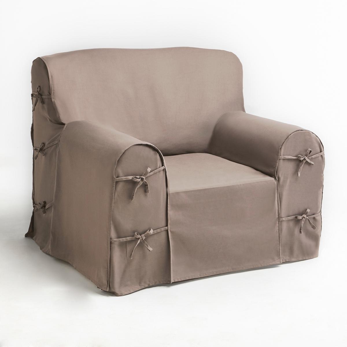 Чехол для креслаХарактеристики чехла для кресла:- Практичный чехол для кресла регулируется завязками. - Красивая плотная ткань из 100% хлопка (220 г/м?).- Обработка против пятен.- Простой уход: стирка при 40°, превосходная стойкость цвета.Размеры чехла для кресла:- Общая высота: 102 см.- Максимальная ширина: 80 см.- Глубина сидения: 60 см.- Высота подлокотников: 66 см.Качество VALEUR S?RE. Производство осуществляется с учетом стандартов по защите окружающей среды и здоровья человека, что подтверждено сертификатом Oeko-tex®.<br><br>Цвет: антрацит,белый,медовый,облачно-серый,рубиново-красный,серо-коричневый каштан,сине-зеленый,экрю<br>Размер: единый размер.единый размер.единый размер