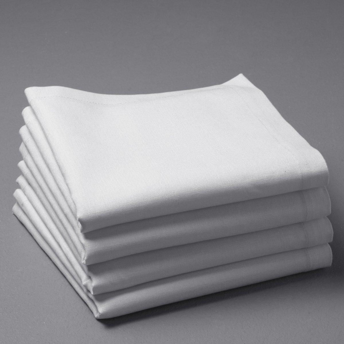Комплект из салфеток из La Redoute Льна и хлопка BORDER 45 x 45 см белый комплект из салфеток из la redoute льна и хлопка border 45 x 45 см бежевый
