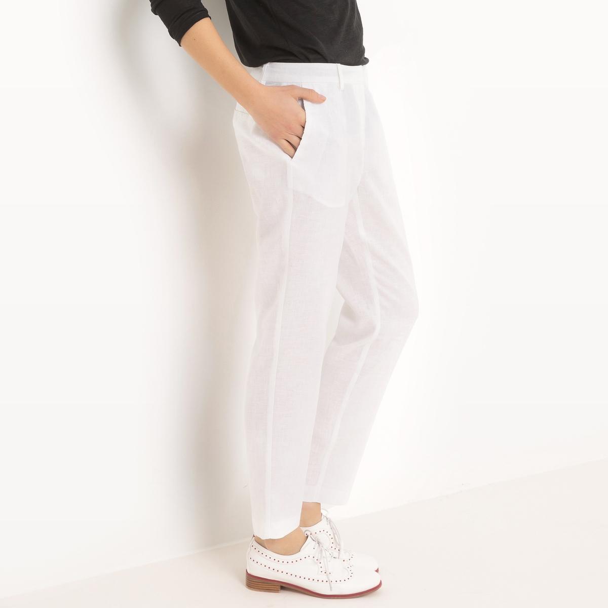 Брюки-дудочки узкие из льна брюки узкие дудочки