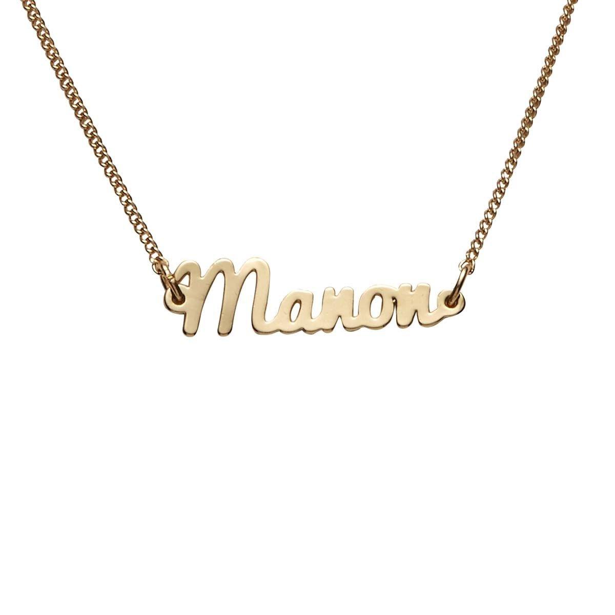 Bracelet dore prenom Manon