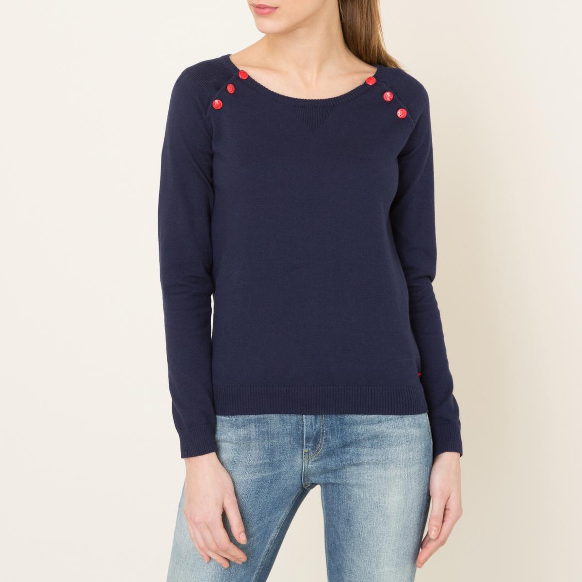 Пуловер в полоску в морском стилеСостав и описание    Материал : 100% хлопок Марка : MAISON SCOTCH<br><br>Цвет: темно-синий,экрю/ темно-синий<br>Размер: S