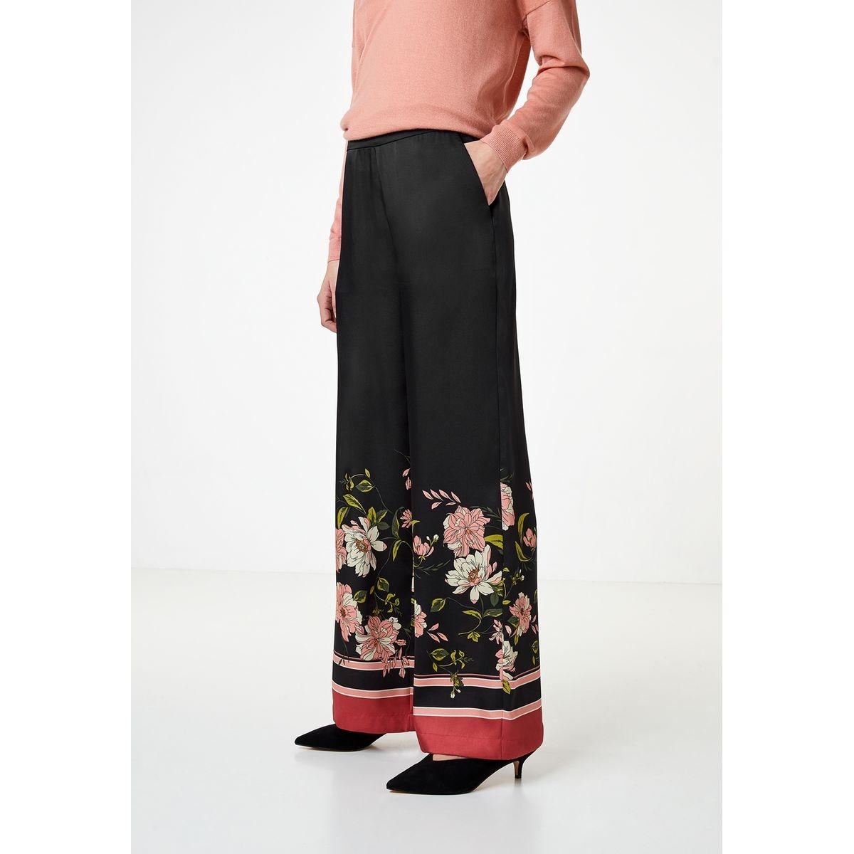 Pantalon en satin à imprimé foulard