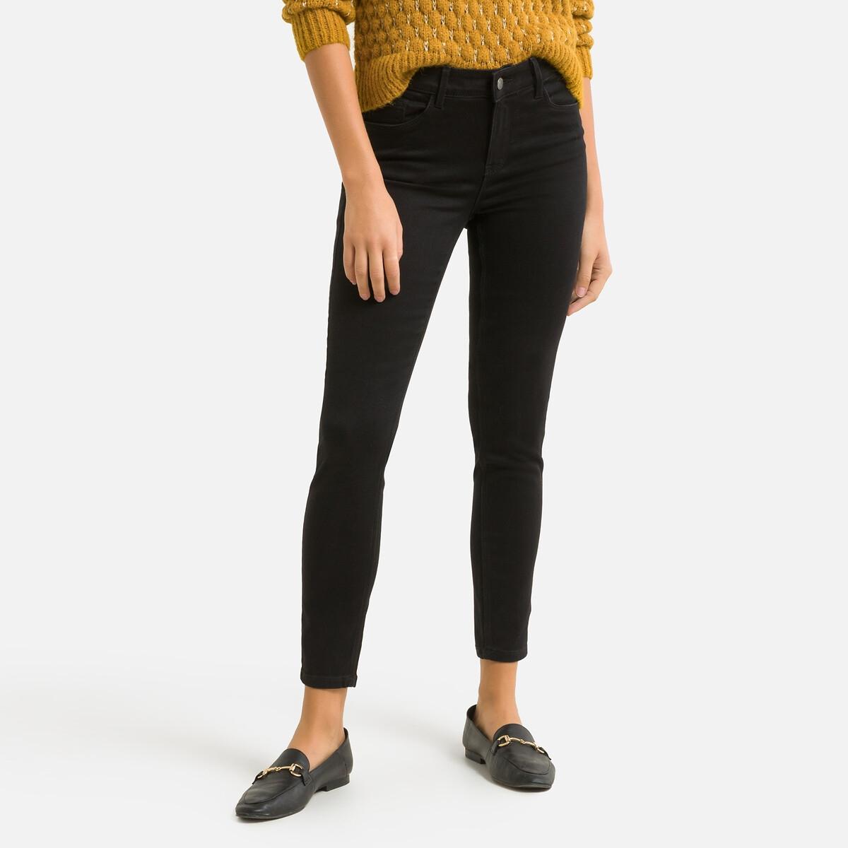 Фото - Джинсы LaRedoute Узкие XS/30 черный джинсы laredoute скинни длина 30 s черный