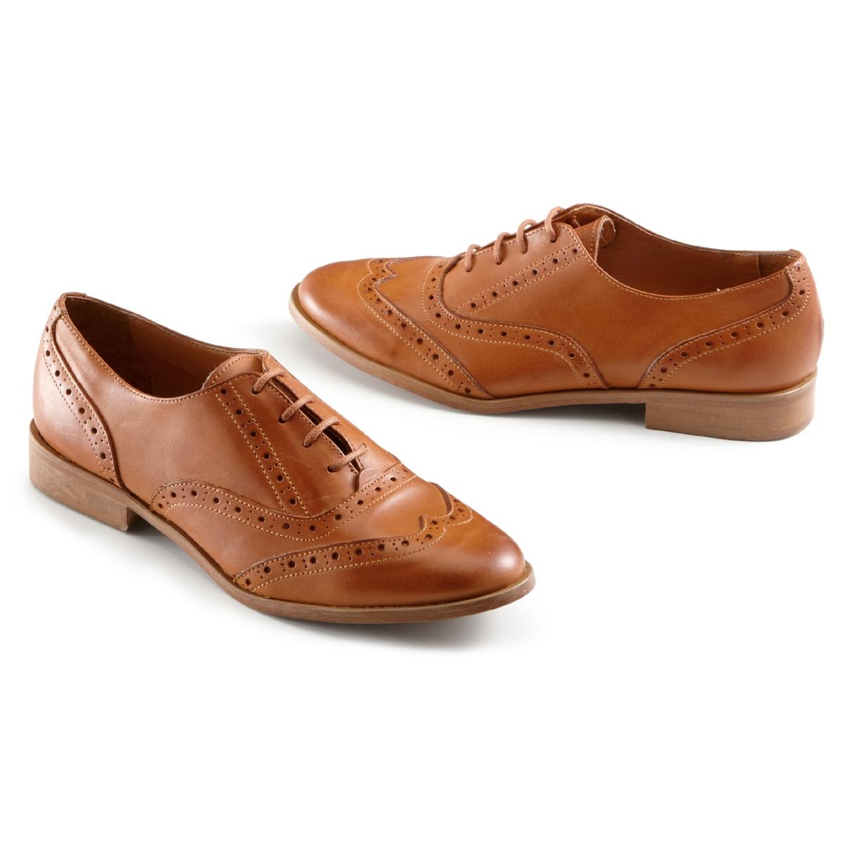 Туфли-дерби из кожи на шнуровке