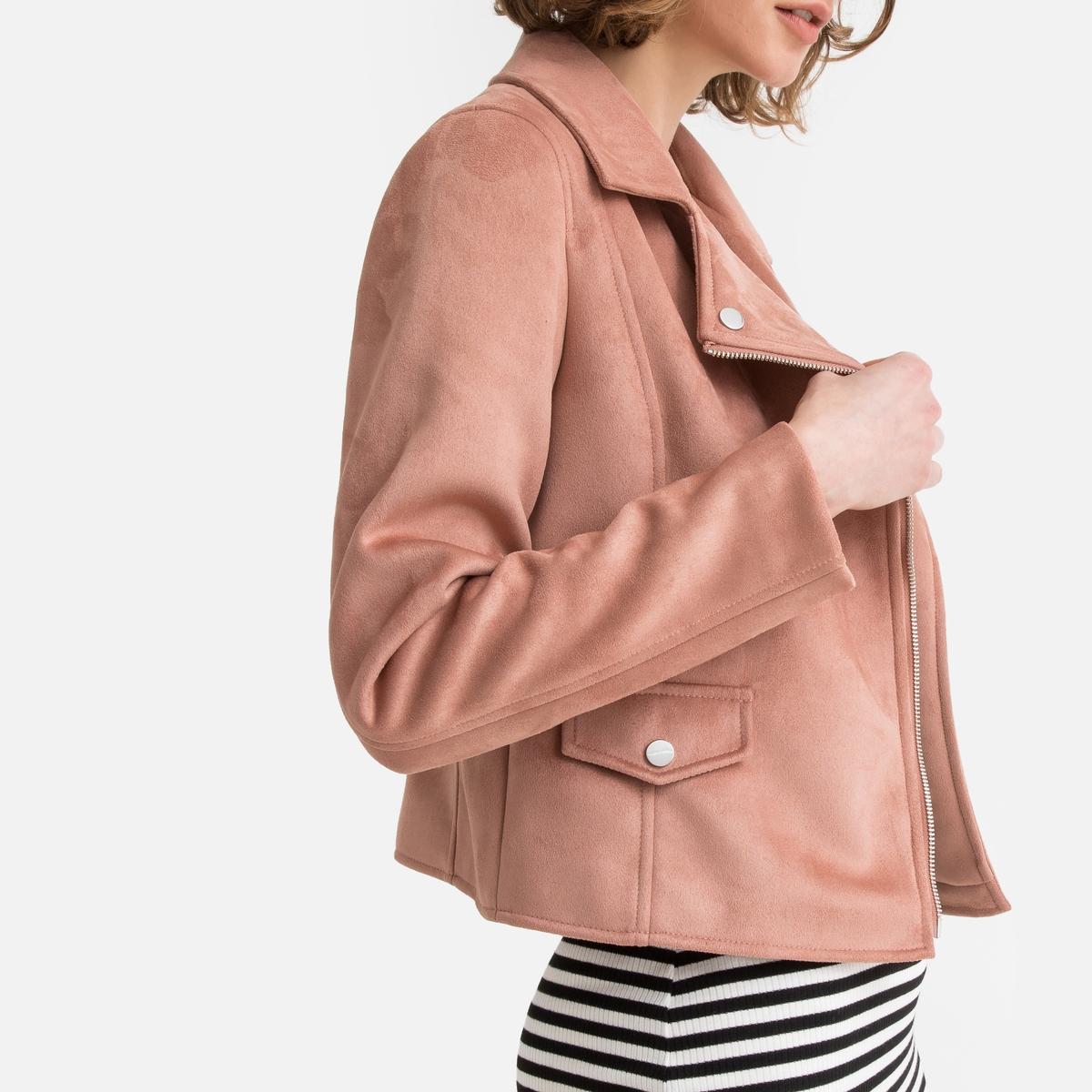 Блузон La Redoute Из искусственной кожи в байкерском стиле 34 (FR) - 40 (RUS) розовый блузон la redoute с надписью из искусственной кожи 34 fr 40 rus черный